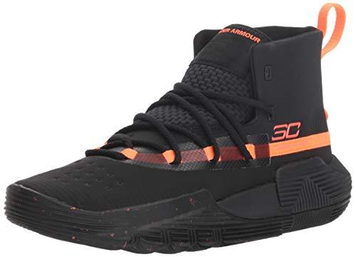 Under Armour Boy's Grade School SC 3Zer0 II Basketball Shoe, Black (002)/Black, 6