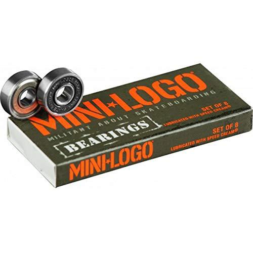 Mini-Logo Bearings 608ZRS Series 3 Skateboard Kugellager, Silber, Einheitsgröße