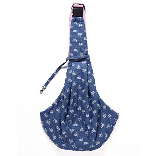 fuwahahah eenvoudige blauwe achtergrond mobiele telefoon tas gesp aanpassing huisdier tas wit klein patroon camouflage doek tas huisdier draagbare rugzak, A