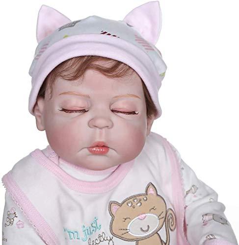 XYBHD Reborn Baby Dolls Mueca de Vinilo de Silicona Hecha a Mano Muecas de nia realistas para Regalo Seguro y Lavable