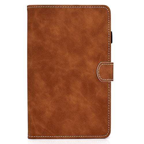 zl one - Carcasa para tablet Lenovo Tab M10 Plus (piel sintética), color marrón