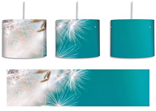 Wunderschöne Pusteblume inkl. Lampenfassung E27, Lampe mit Motivdruck, tolle Deckenlampe, Hängelampe, Pendelleuchte - Durchmesser 30cm - Dekoration mit Licht ideal für Wohnzimmer, Kinderzimmer, Schlafzimmer