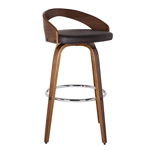 Armen Living Sonia Kitchen Counter Bar Stools with Back, Comfortable Padded Seats,26