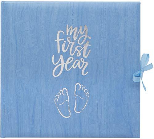 Baby's My First Year Record Logbuch zum Gedenken der Geburt durch ihr erstes Jahr auf Erde, Blau