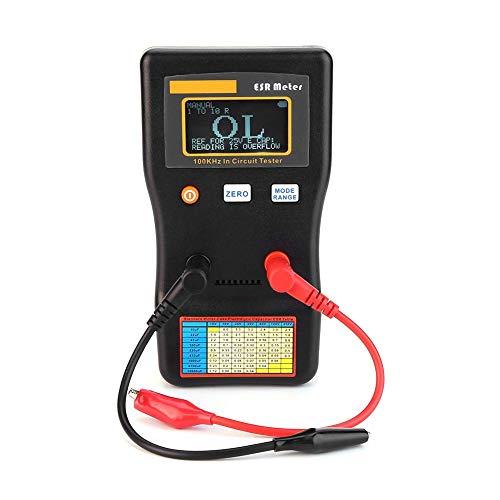 DXX-HR Medidor de capacitancia ESR, rango automático en el probador de circuito, medidor de capacitancia de resistencia Esr para una inspección rápida y fácil del condensador general o la resistencia