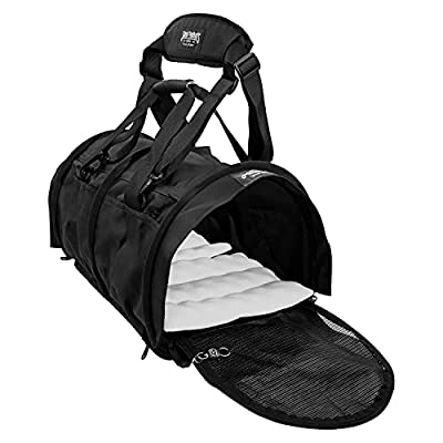 STURDI PRODUCTS Bag Double Sided Divided Pet Carrier, Large, Black