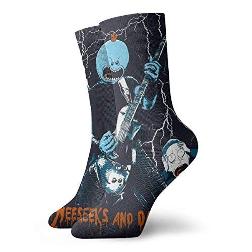 XCNGG Calcetines cortos locos divertidos unisex de las mujeres Calcetines deportivos atléticos del tubo del equipo de los deportes del modelo 3D