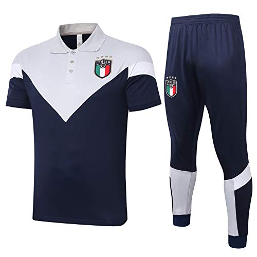 LQRYJDZ Chándal de fútbol para Hombre Spring Autumn Adult Chándal, Italia Fútbol Club de Entrenamiento Traje de Entrenamiento Traje de la Competencia Camiseta Top + Pantalones Largos (Size : L)