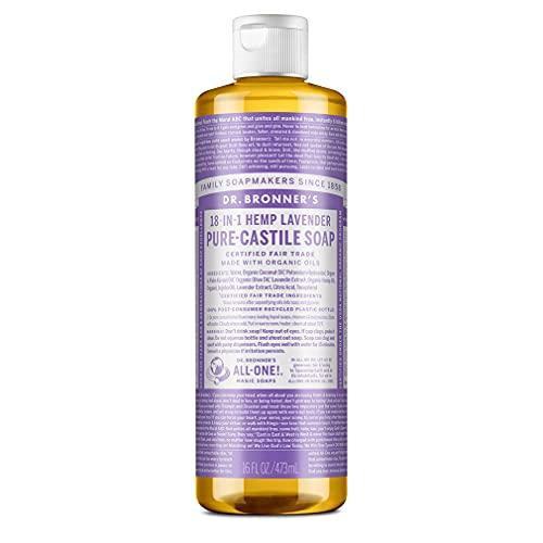 Dr. Bronner's, Organic PureCastile Liquid Soap, Lavender, 473 ml