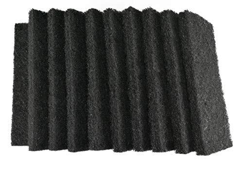 1a Profiline Handpad für jede Arbeit und jedes Material der passende Härtegrad I schwarz - Vliespad hart - abrasives Schleifpad für Unterhalts - Reinigung nass und trocken 25x11,5x2,5 cm 10 Stück