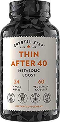 Crystal Star Thin After 40, 60 Capsules, Garcinia Cambogia, Promotes fat burn & helps curb appetite, Gluten Free, Non-GMO