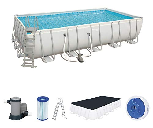 Best Way 6942138929614 Piscina Power Steel Frame Rettangolare Cm 671X366X132, cap 26.845 Lt 213