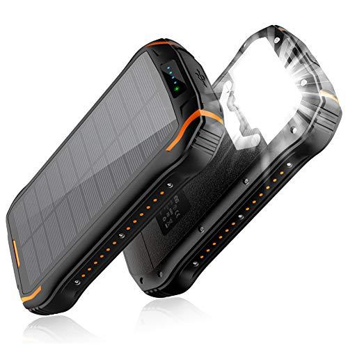 【2019最新版&15W急速充電】26800mAhモバイルバッテリー 大容量 ソーラーチャージャー ソーラー充電器 3...