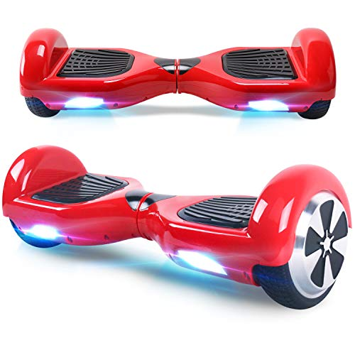 Windgoo Hoverboard, 6.5 Zoll Self Balance Scooter mit Starker Dual Motor - LED Lights Elektro Scooter, Self Balancing Scooter für Kinder (Rot)