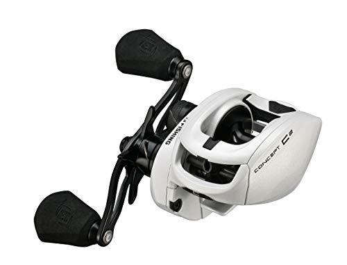 13 FISHING Concept C2 - Carrete de pesca de bajo perfil de Baitcast - 8.3:1 - Recuperación de mano derecha (fresca+sal) - C2-8.3-RH