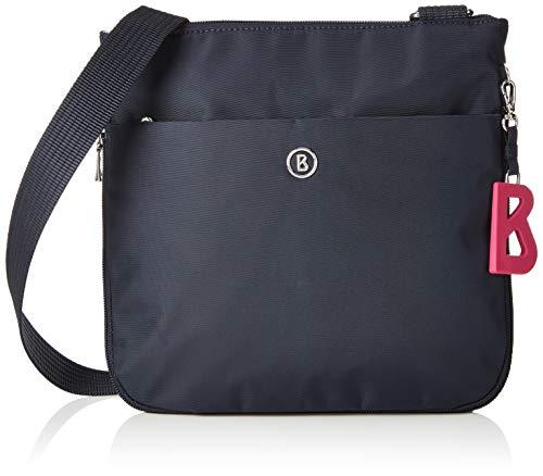 Bogner Damen Schultertasche Verbier Serena mit Reißverschluss Handtasche mit verstellbarem Gurt, Blau (Dark Blue), 7x24x25 cm