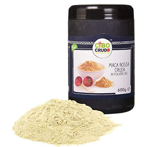 Cibocrudo Maca Rossa delle Ande in Polvere Bio, Red Maca Powder Raw Organic, Peruviana, Pura al 100{41e55faeec1a3fd44108fea81a52f5d460cb0e75e9593b529e837048e912401d}, Fonte di Antiossidanti, Vitamina C, Ferro, Calcio, Potassio, Energia – 600 gr