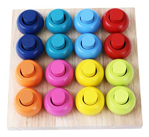 Babe Rock Wooden Color Sorting Stacking...