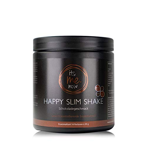itsme.now Happy Slim Diät Shake zum Abnehmen I Eiweißpulver vegan I pflanzliches Proteinpulver Reisprotein Erbsenprotein I Eiweißshake Mahlzeitenersatz Gewichtsverlust I 420g Dose Schoko Geschmack