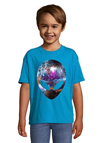 Iprints Cosmic Alien Head Nebula Space NASA Kleurrijke Kids T-shirt