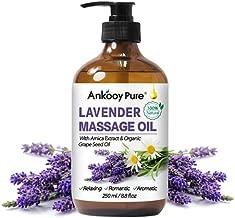Lavender Essential Oil Massage Oil for Massage Therapy, 100% Natural Lavender Oil for Body Massage Warming Massage Oil and Relaxing Massage Oil for Couples Soothing Oil Body Oil Moisturizer
