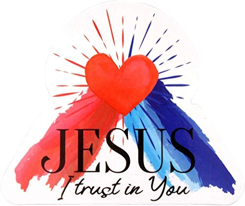 Jesus Magnet I trust in You Magnetic Refrigerator or Car Decal, 2 7/8 Inch, Pack of 3