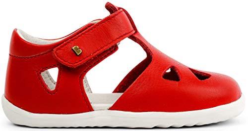 Bobux Step Up Zap Closed Sandal_Erste Schritte - Babysandalen aus Leder von Bobux, grau - Rot - Größe: 19 EU