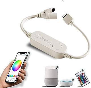 WiFi Controller for LED Strip by GoKlug Alexa LED Strip Google Home Controller, Dimmer, RGB LED Strip Control Kit, LED Strip Lights Music Sync, Control via Smart Life App and Remote Control