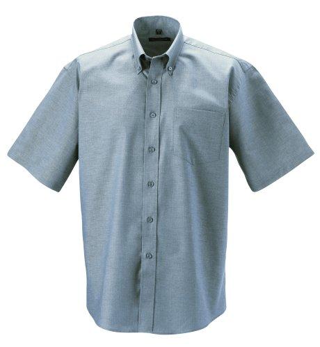 Z933 Kurzärmeliges Oxford Hemd Oberhemd Herrenhemd 3XL / 47/48,Silver