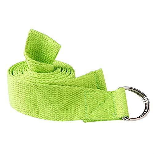 PPLAX Cinturón de Yoga Yoga Stretch Band Multicolor Anillo Cinturón Fitness Ejercicio Gimnasio Diagrama Diagrama Cintura y Resistencia a la Pierna Banda de Fitness Cinturón de Yoga (Color : Green)