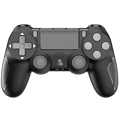 Game Controller for PS-4, YCCSKY 1000mAh Wireless Controller for PS-4/ PS-4 Slim/PS-4 Pro Console with Share Button/Ergonomic Design/Vbt Function (Black)
