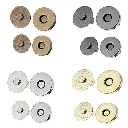 5set 14mm/18mm 4 Kleuren Pick Metaal Sterke Magnetische snap Bevestigingen Sluitingen Knopen voor Handtas Portemonnee Tassen Onderdelen Accessoires 14mm goud