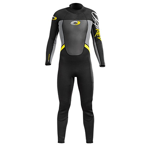 3/2mm Thickness Summer Wetsuit Ultra-Flex Neoprene with Ergonomic Paneling Chest & Back Windshield Rubberised Knee Pads Key Loop & Full Length Back Zip
