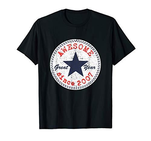 Awesome Seit 2007 Geburtstag Geschenk 13 Jahre Junge Mädchen T-Shirt