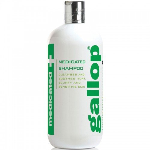 William Hunter Equestrian Gallop Medicated Horse Shampoo Antibatterico 500ml – Uno Shampoo PH Neutro Ideale per Pelli secche, traballanti, pruriginose, scorrette, doloranti e sensibili.