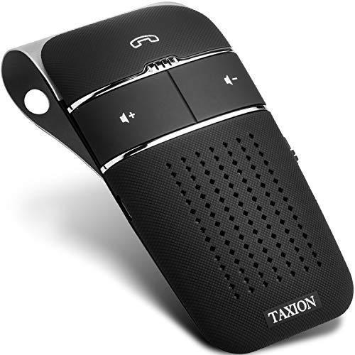 車載 ワイヤレススピーカー【TAXION】 業務用対応 プロ仕様 Bluetooth 4.1 日本語アナウンス エアコン吹き出し口用ホルダー付き ハンズフリースピーカー 高音質 スピーカー 内蔵 車 自動電源ON、OFF機能 車内通話 2台登録待ち受け可能 音楽再生 スピーカーフォン 技適認証済 【本体 1年保証 】 THF-04