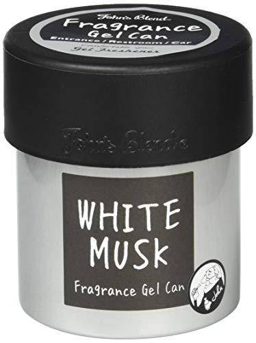 ノルコーポレーション John's Blend 車用芳香剤 フレグランスジェル 缶 OA-JON-38-1 ホワイトムスク の香り