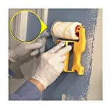 LLguz Paint Edger Roller Brush for Household Room Wall Ceilings Painting (Yellow)