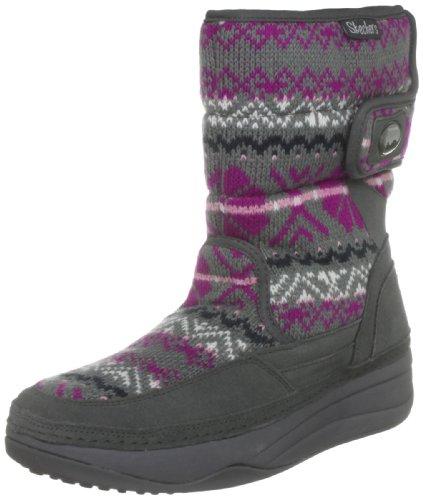 [スケッチャーズ] Women 's tone-ups chalet- Carve midhighセーターPuff Boot カラー: グレー
