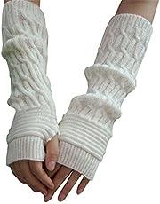 Reine à la mode - Mitones largos de brazo, tejido, cálidos