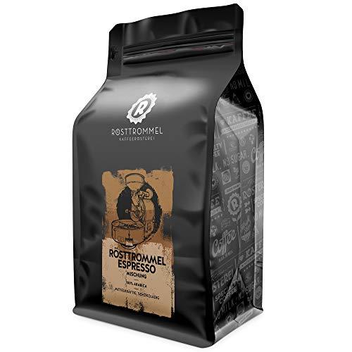 Espressobohnen RÖSTTROMMEL - Rösterei des Jahres 2017 - mittelkräftig - handgeröstet für Vollautomat