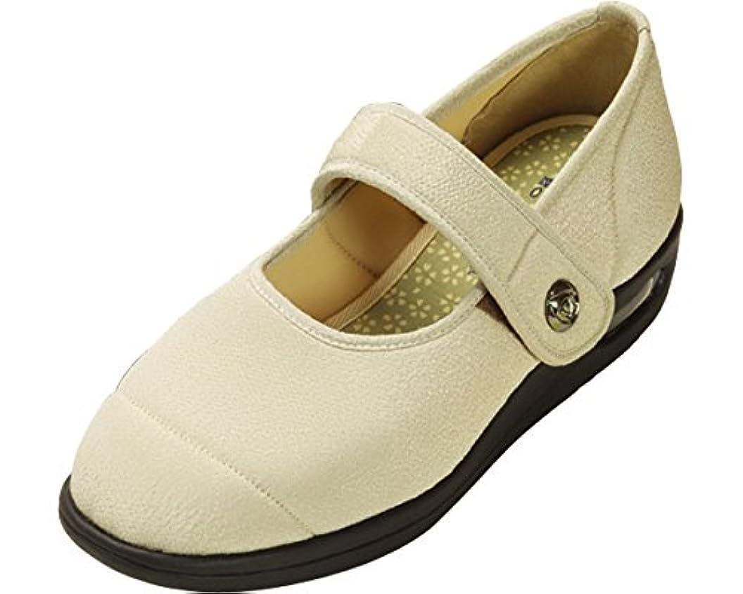 チャーム動力学下向き彩彩~ちりめん~ 両足 婦人用 22.0cm ベージュ W1101 (マリアンヌ製靴) (シューズ)(返品不可)