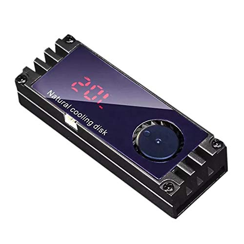 Kamenda M2 SSD Disipador de Calor Temperatura del Enfriador Pantalla Digital OLED Negro M.2 2280 NVME Radiador de Disco Duro de Estado SóLido