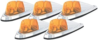 Pacer Performance 20-105 Hi-Five Amber Deluxe Chrome Teardrop Style Cab Roof Light Kit, (Pack of 5)