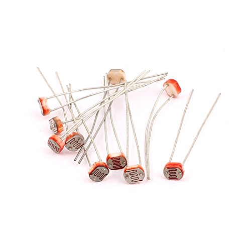 Aexit 10pcs GL5539 Fixed Resistors 30K-90K Ohm 150V LDR Single Resistors Light-Dependent Photoresistors