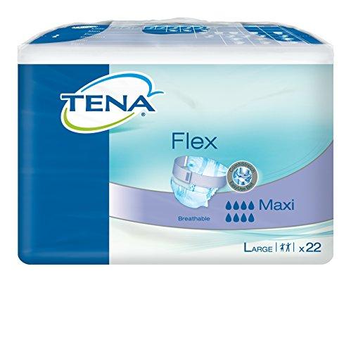 TENA Flex Maxi Large (L) - wiederverschließbare Inkontinenz-Vorlage mit Klettverschluss (1 Karton = 3 x 22 = 66 Stück)