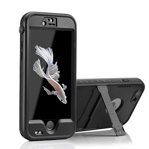 OKCS Waterproof Case für das Apple iPhone 6 Plus, 6s Plus Schutzhülle Wasserdicht Outdoor Case Hardcover Rundumschutz Exklusiv Edition mit Halterung