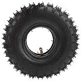 Neumático para scooter de movilidad, neumático de rueda de scooter a prueba de explosiones antideslizante 4.10 / 4 Neumático de rueda para scooter de movilidad y tubo interior para cortadora de césp