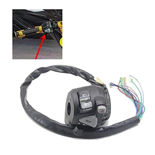 MEIXIANG Mei-Xiang Interruptor de Faro de la Motocicleta Interruptor del Manillar Interruptor del Interruptor del Motor Ajuste para PCX 150 Accesorios para Motocicletas (Color : Black)