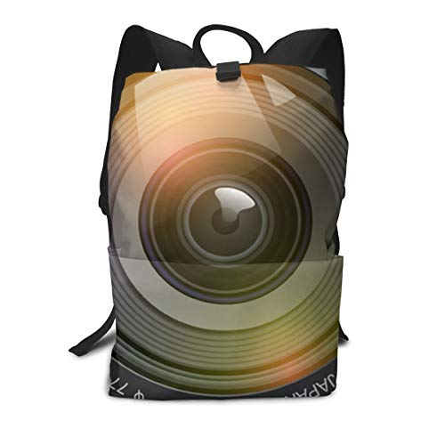 Fotografie Objektiv Png Rucksäcke, süße Schultasche für Teenager Mädchen Jungen leichte Büchertaschen